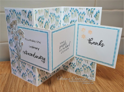 Rhapsody in craft, Balmy Blue, Fancy Fold, Friendship Card, Thank you card, Simply Succulents, Quiet Meadow, You're A Peach DSP, Double tri-fold Pop Up Card, Annual Catalogue 2021-22, Stampin' Up, #loveitchopit, #colourcreationsbloghop, #colourcreationsbloghop2021