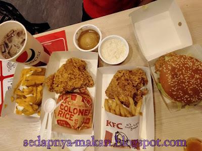 set hidangan KFC