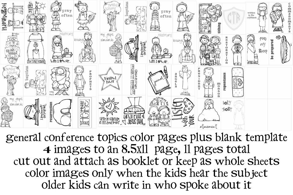 Jack and Jill of *many* trades: general conference color pages