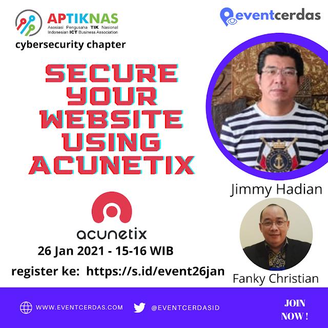 EVENTCERDAS : ACUNETIX : SECURE YOUR WEBSITE USING ACUNETIX