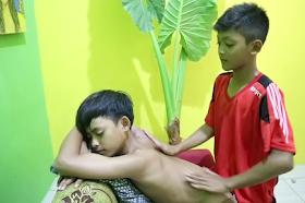 the back massage
