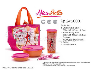 Miss Belle Promo Tupperware November 2016