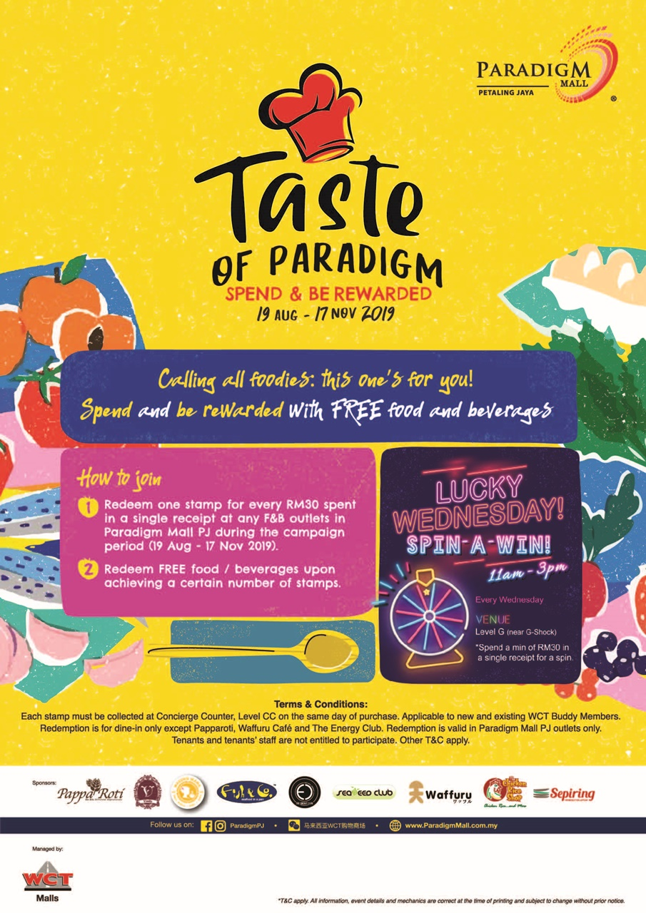 The Taste of Paradigm – Spend and Be Rewarded