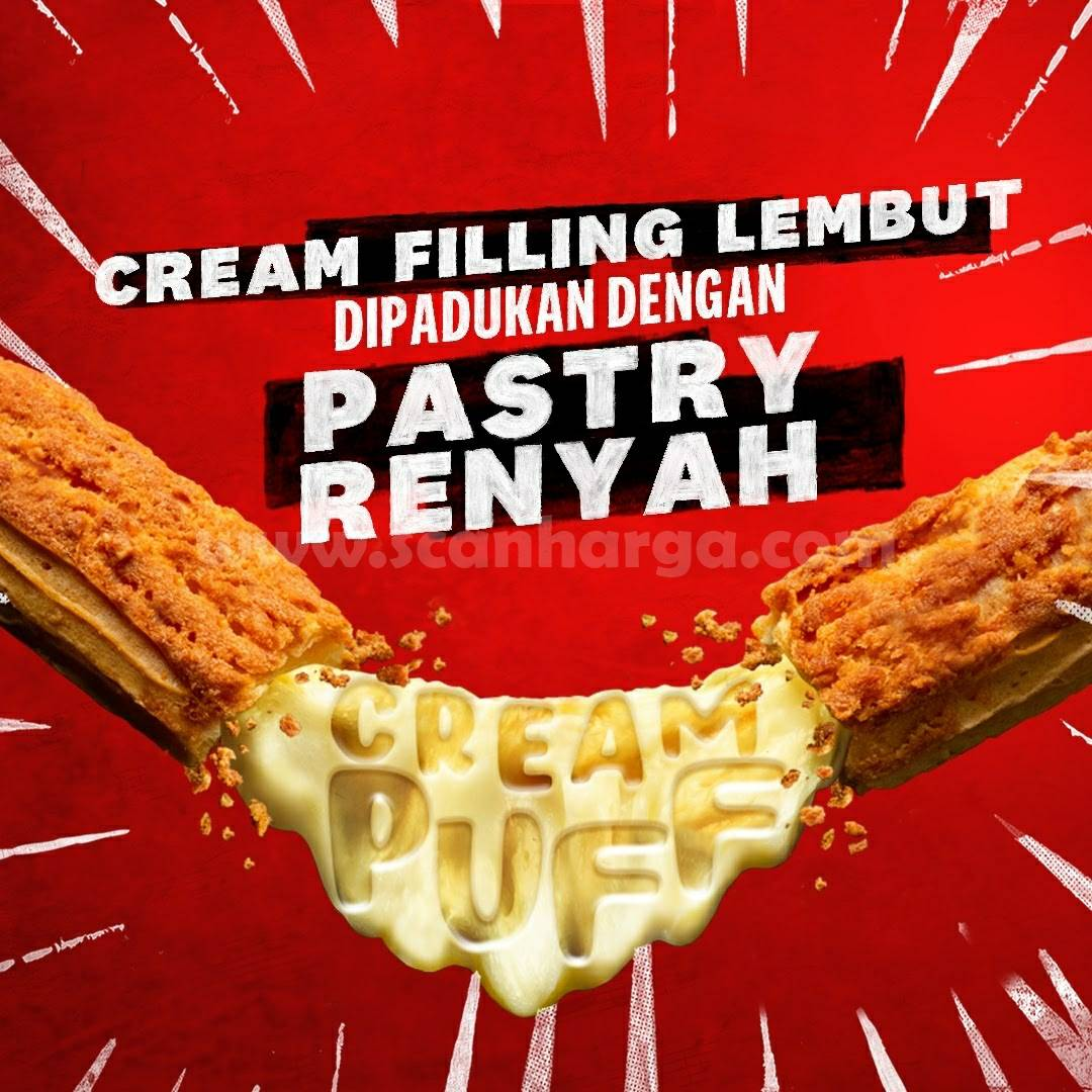 KFC Promo harga Spesial CREAM PUFF Mulai Rp 10.909 per pc JUNI 2021