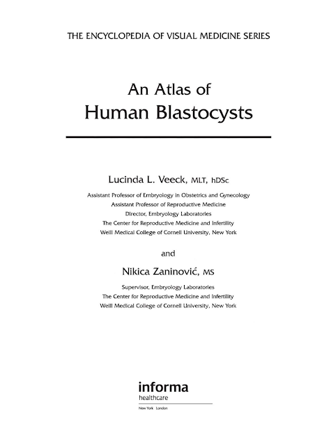 free ebook : An Atlas of Human Blastocysts