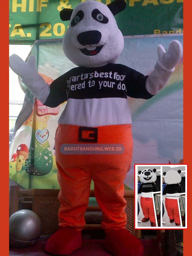 Badut panda maskot restoran jakarta
