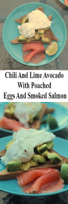 simple brunch or light lunch idea, Chili And Lime Avocado With Poached Eggs And Smoked Salmon