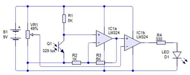 Implementasi Sensor Phototransistor dengan kendali Analog