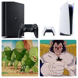 PS4がサイバイマンだとすると PS5は大猿に変身したベジータ