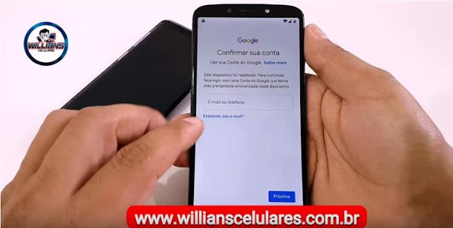 Como Remover Conta Google Motorola Moto G7 Play, G7 Power, G7 Plus, G6 Plus, G6 Play Android 9 Patch atualizado