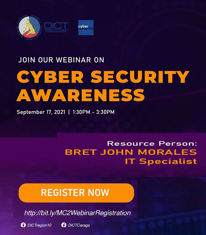 One-Day Free Webinar on Cyber Security Awareness by DICT | September 17 | Register Now