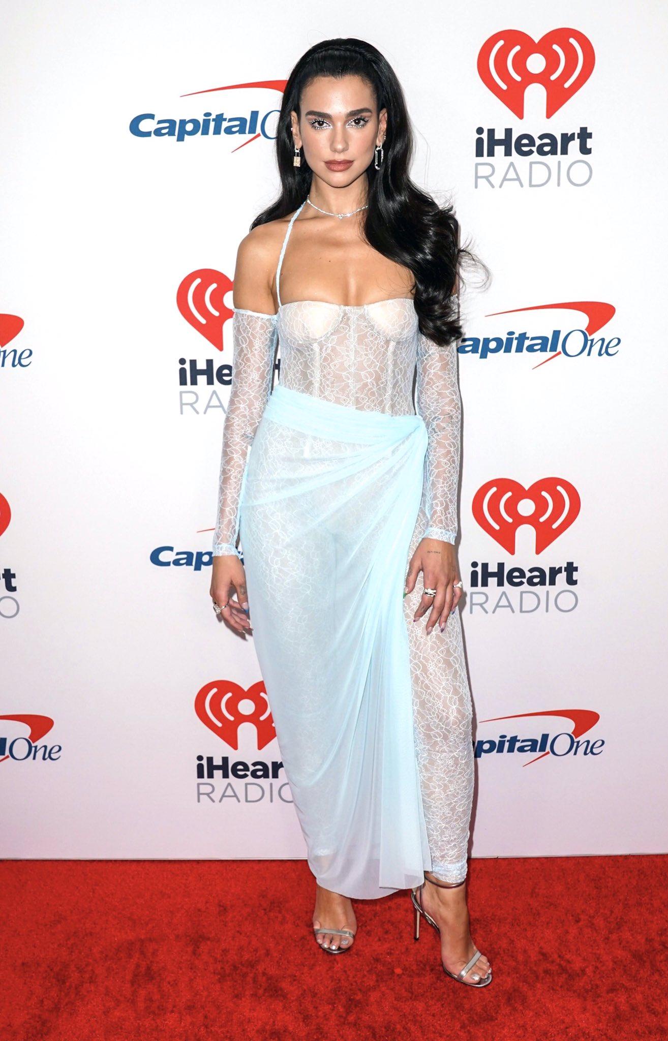Dua Lipa's Lace Catsuit at iHeartRadio Music Festival 2021