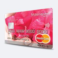 Bank Millennium karta kredytowa MasterCard Impresja promocja bon voucher 200 zł do empik.com za wniosek przez MilleNet