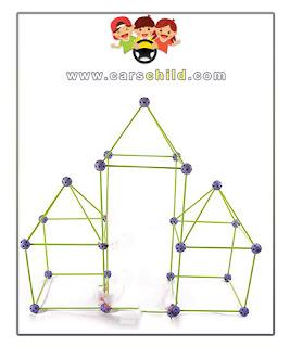 لعبة اطفال 5 سنوات بناء هيكل من القطع