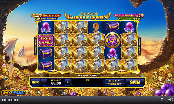 Main Gratis Slot Indonesia - Age of the Gods Glorious Griffin (Playtech)