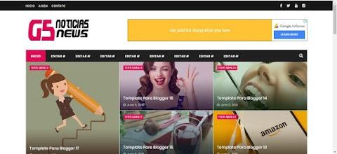 G5 Versão Notícias Blogger Template