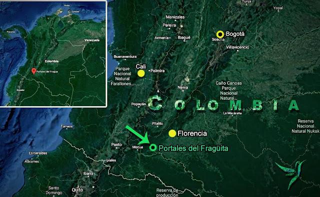 mapa de colombia ubicando los portales del fraguita