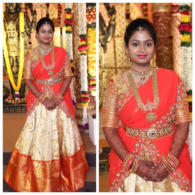 Bandla Ganesh Daughter in Half Saree
