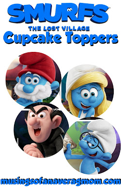 Smurfs Lost village cupcake toppers