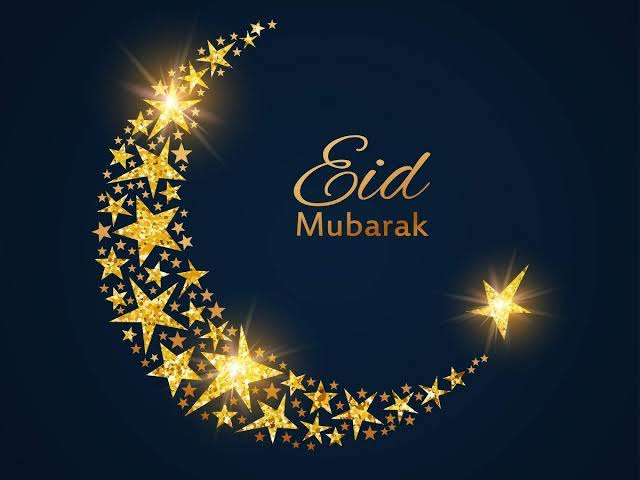 Golden Moon Eid Mubarak online greeting cards