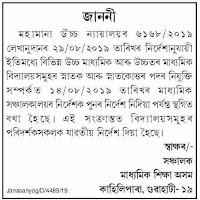Secondary Education Dept Assam Recruitment Canceled Notice