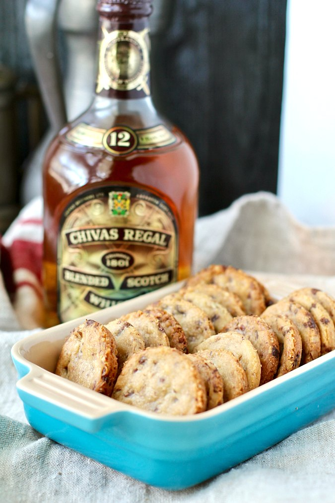 Pecan Butterscotch Shortbread Cookies with Millican pecans and scotch whisky