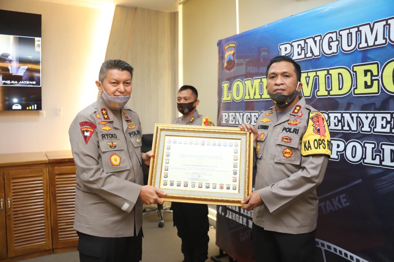 Sukses Laksanakan Program Unggulan Polda Jateng. Polres Wonogiri Raih Penghargaan Terbaik