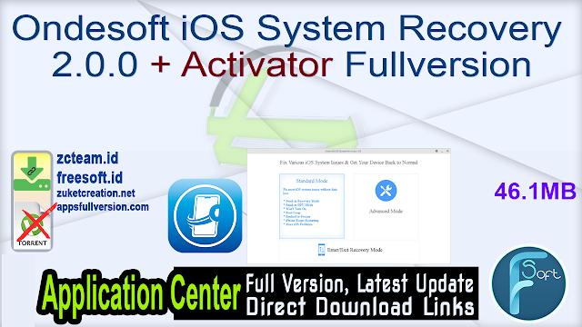 Ondesoft iOS System Recovery 2.0.0 + Activator Fullversion