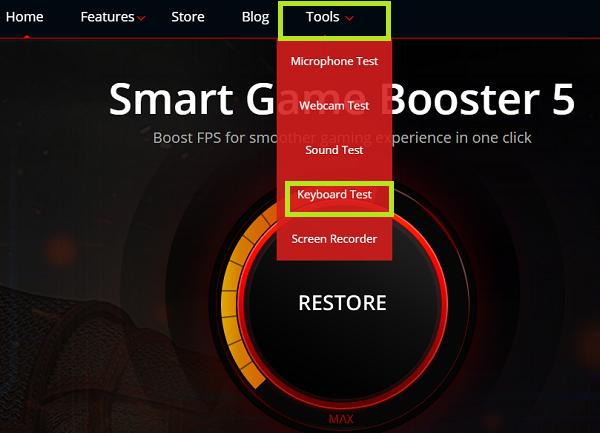 5. Hướng dẫn test keyboard với PC Game Boost a