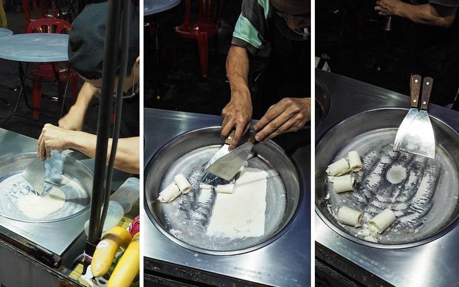 ice cream at jalan alor street food market in kuala lumpur