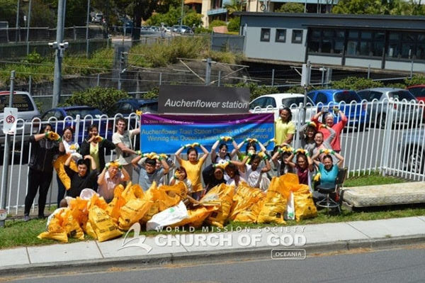 Cleanup Campaign at Auchenflower station, QLD