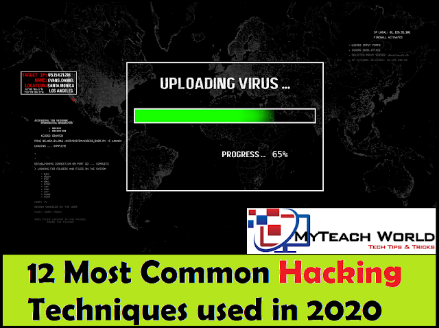 12 Most Common Hacking Techniques Used in 2020 | You Should Know About