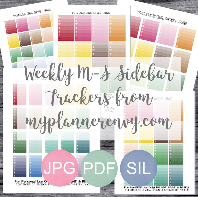Free Printable Weekly M-S Sidebar Trackers from myplannerenvy.com