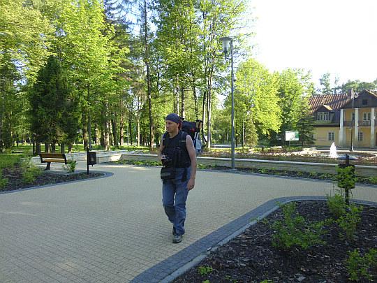 Rabka-Zdrój. W Parku Zdrojowym przy ul. Orkana.