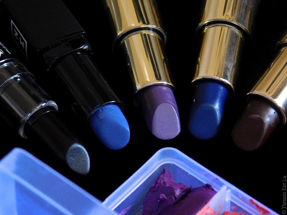 MUA KIT #1 | Homemade Weird Fun Color Lipstick Palettes | Pierre René Professionnal Full Matte Lipstick Notice Me Nude, NYX Macaron Lipstick Pistachio & Earl Grey & Lavender & Up the Bass & Haze & Blue Velvet, PepperPotts Lipsticks 02 et 07, NYX Macaron Coconut & Citron, dupe Lady Danger de M.A.C., After 90 Charming Lipstick 02, Kiko Intense Colour 01, NYX Macaron Chambord, 3ina Intense Lipstick 315, Pierre René Full Matte Lipsticks Blueberry Muffin, Ink Blue, Deep Burgund - Yellow Lipstick, Green, Blue, Pink, Orange, Red, Purple, Black, White, Grey Lipstick