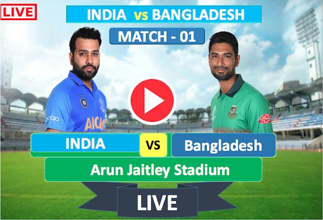 Watch Live match India  vs Bangladesh- 1st T20 match , Bangladesh  Tour of Australia 2019
