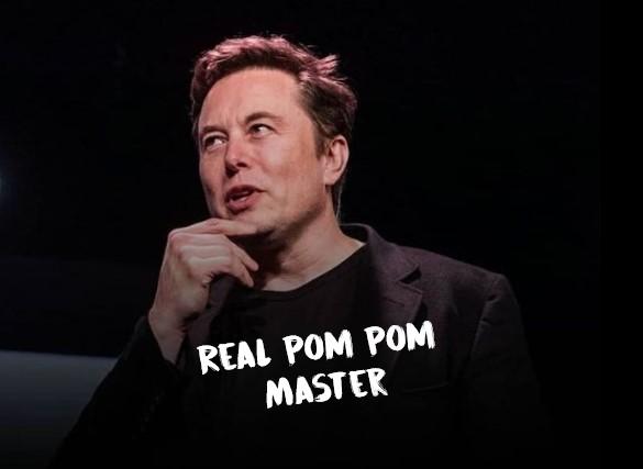 Elon Musk Pom Pom Master