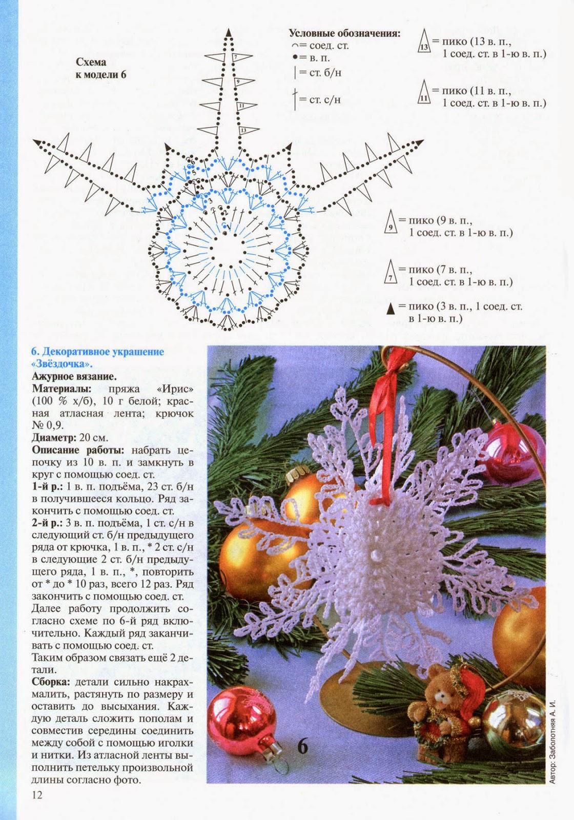 Copo de Nieve tridimensional crochet patron