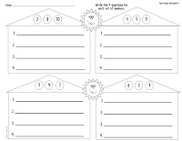 FREE Fact Family Addition and Subtraction Worksheet