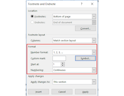 Footnote and Endnote