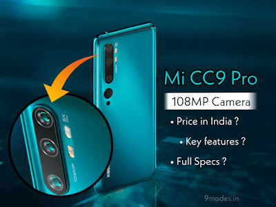 Mi CC9 Pro price in India