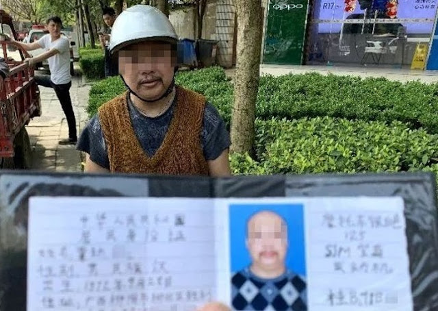 A man who drew his driver's license