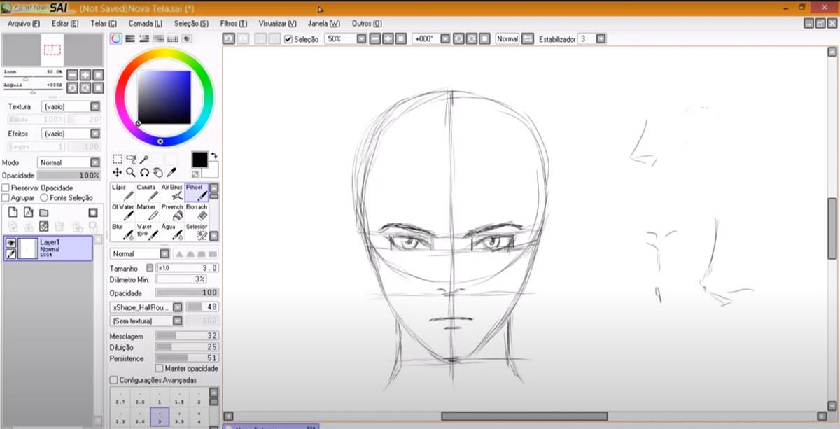 Tutorial para você ilustrar melhor: Mayara Rodrigues ensina como desenhar um rosto de frente