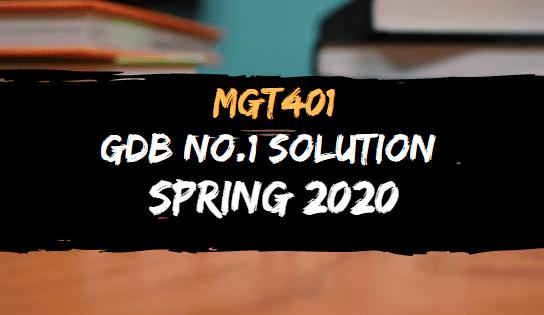 MGT401