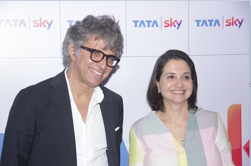 Mr. Paolo Agostinelli, Chief Content & Business Development Officer, Tata Sky and Ms. Anupama Chopra, Director, Jio MAMI Mumbai Film Festival with Star at the launch of Tata Sky'1