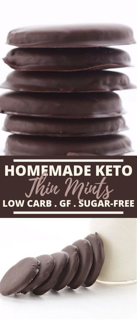Homemade Thin Mints (Low Carb and Gluten Free) #keto #snacks #chocolate #glutenfree #healthy