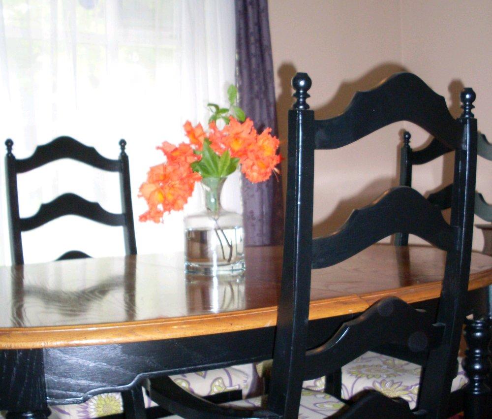 Painted Dining Room Sets: Dishfunctional Designs: Vintage Dining Room Set Makeover