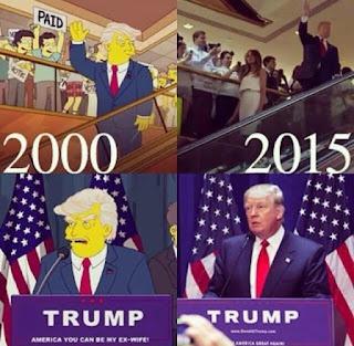 Também temos que notar, que algumas previsões idênticas ocorreram a cerca de Trump