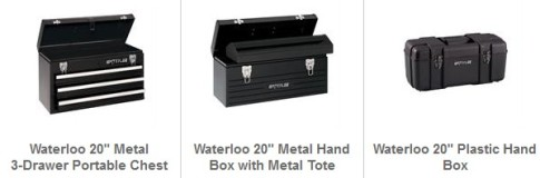 Waterloo tool boxes