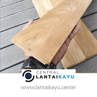 harga lantai kayu Jati A lebar 9 panjang 30 - 90 cm